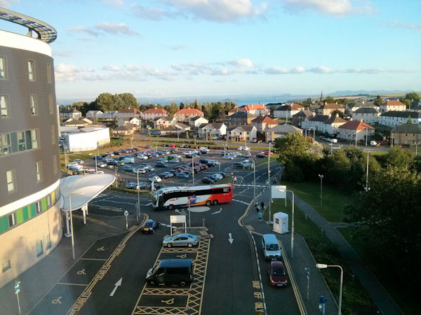 View of the car park from my hospital side room on Ward 43.