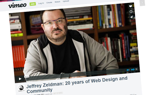 Still of Jeffrey Zeldman video on Vimeo