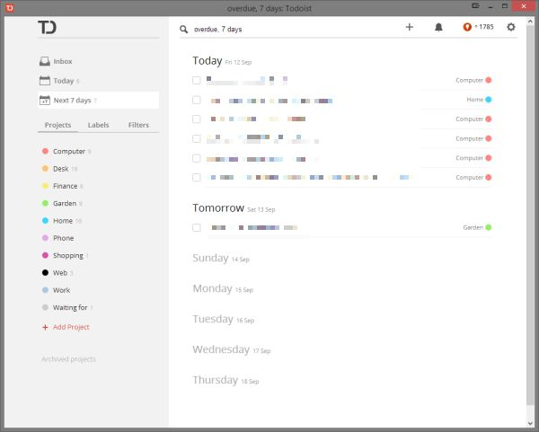 Todoist—simple and clean-looking task application