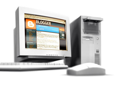 Photograph of a PC and monitor