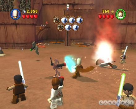 Screenshot from Lego Star Wars game