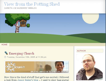 Screenshot of the new blog theme