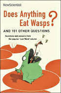 Cover of Does Anything Eat Wasps? shows a frog on a lilly pad catching a wasp with its tongue