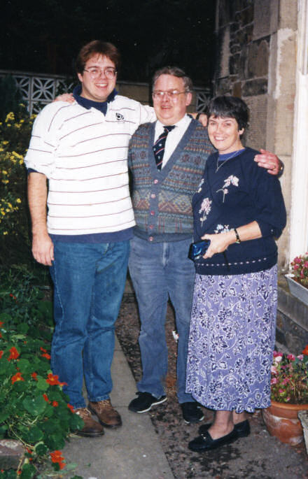 Photograph of Gareth, Keith and Rosalie Saunders