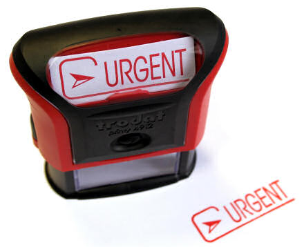 A stamp that says Urgent