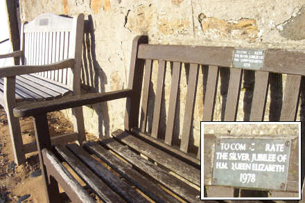A bench commemorating the Queen's Silver Jubilee