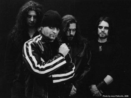 Current line-up of the Swiss thrash band Celtic Frost.