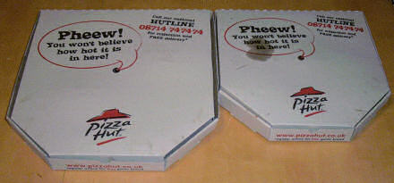 Pizza Hut pizza boxes