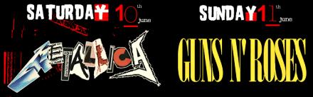 Download Festival headliners: Metallica and Guns N\' Roses