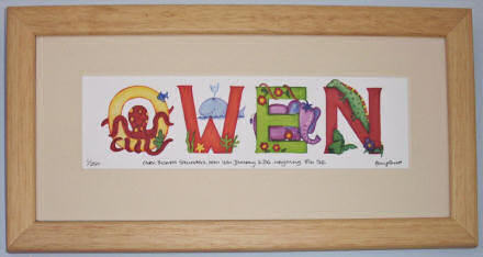 Owen name print from Katiepie dot co dot uk