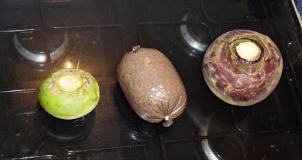 A turnip, a haggis and a swede