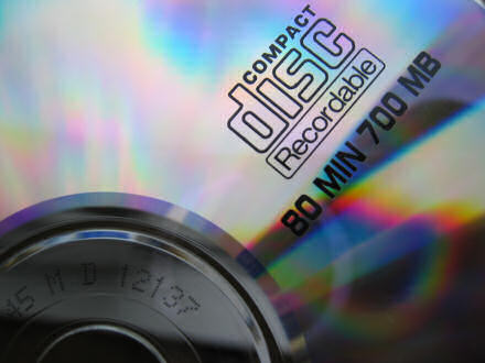 Close-up of a CD