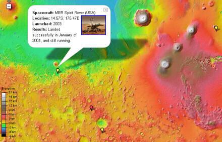 Google Mars map