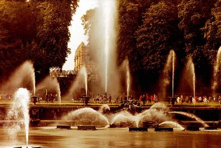 Fountains in Versailles.