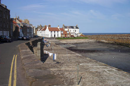 View of Cellardyke harbour, looking towards the slipway.