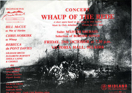 Flyer for a concert called Whaup of the Rede.