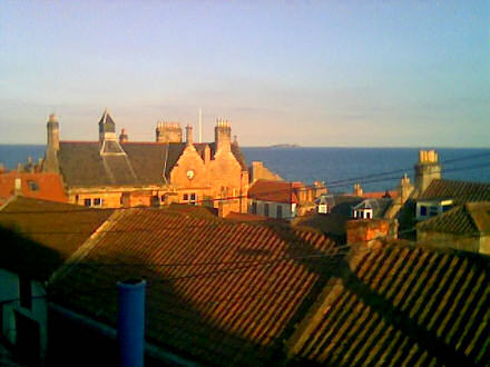 View over Cellardyke in the evening
