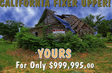 California Fixer Upper! Picture of wrecked house.