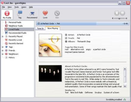 Last.fm for Windows screenshot