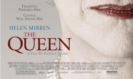 Portion of a poster for the film The Queen