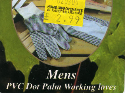 Men's PVC Dot Palm Working loves (sic).