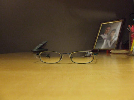 My glasses on a table
