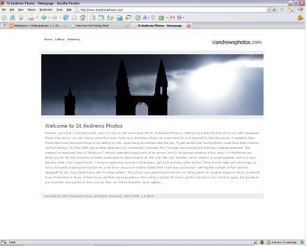 Screenshot of St Andrews Photos dot com