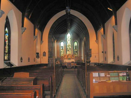 The interior of the building of the Church of St Margaret of Scotland, Leven