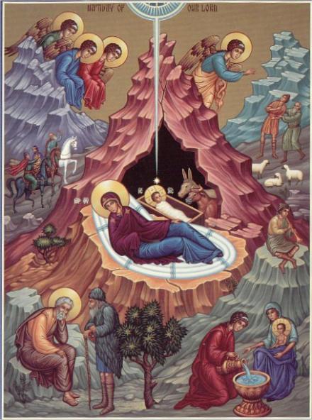 Nativity Scene icon by Fr Luke Dingman