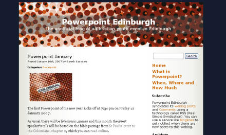 Screenshot of a Powerpoint Edinburgh blog