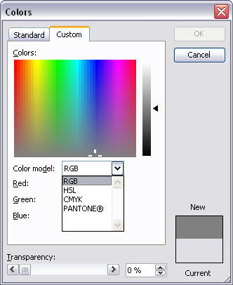 Colour picker from Microsoft Publisher 2003