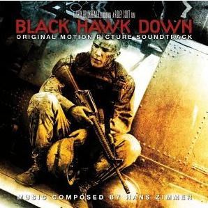 Black Hawk Down CD cover shows a soldier holding a gun.
