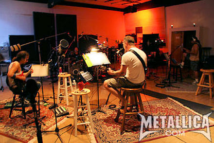 Metallica in the studio