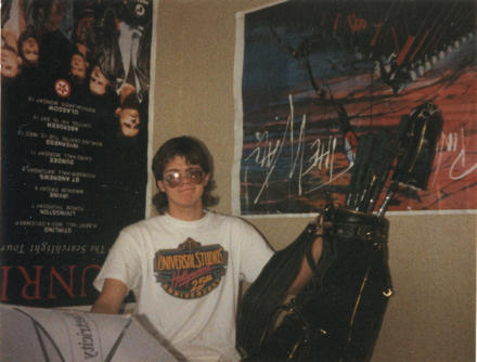 Gareth in 1990, with long hair
