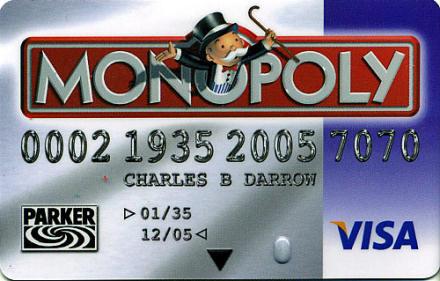 Monopoly Visa card