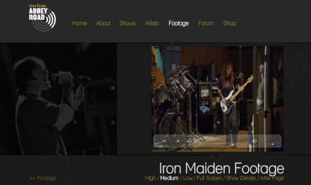 Iron Maiden Footage from Live From Abbey Road