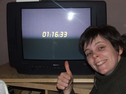 Jane correctly predicts the time on 24, for the first time.