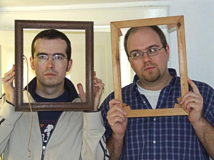 Eddie and Gareth in picture frames