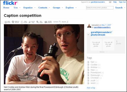 Screenshot of my Flickr account