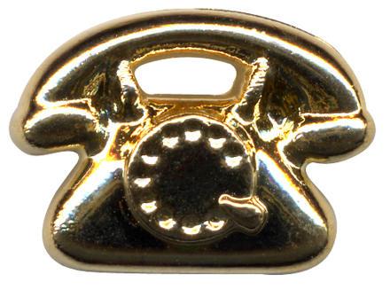 A golden telephone