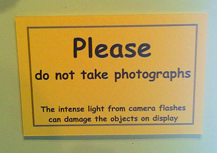 Please do not take photographs