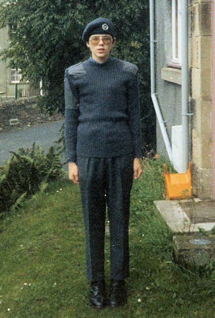 Gareth in an Air Training Corps uniform