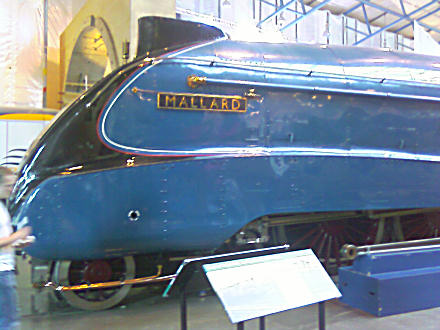 Mallard - the sleek blue locomotive