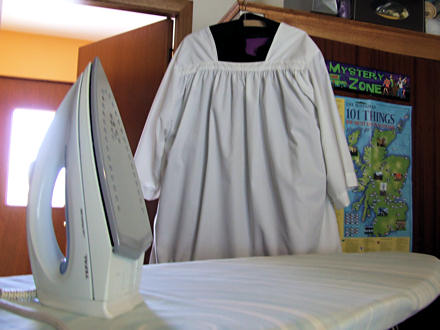 Iron and cassock