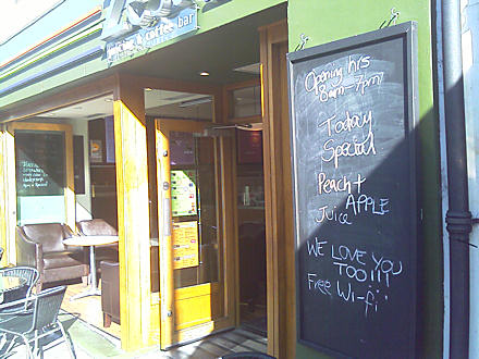 We love you too!!! sign outside Zest