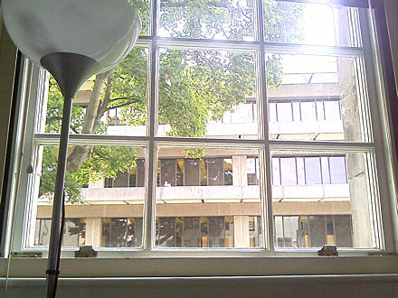 View of University Library from my office window