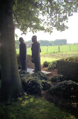 Four stone figures