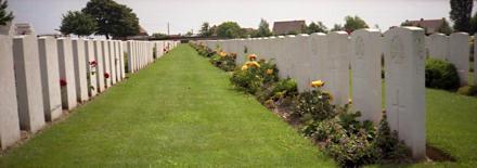 Tyne Cott cemetery in Belgium
