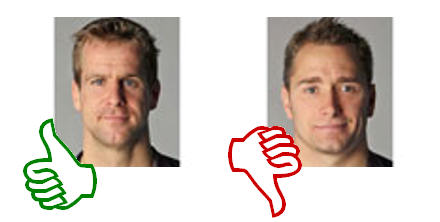 Thumbs up for Chris Paterson; thumbs down for Dan Parks