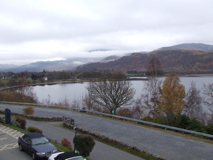 View of the loch from the hotel